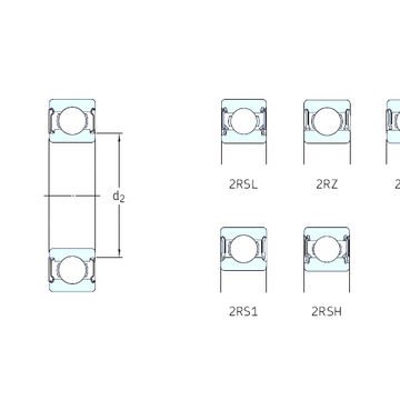 628-RS1 SKF Deep Groove Ball Bearings