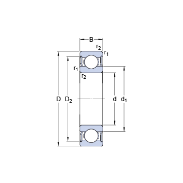 62313-2RS1 SKF Deep Groove Ball Bearings