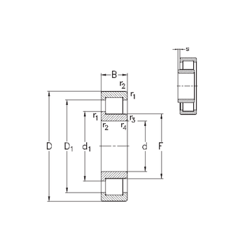 NJ332-E-MA6 NKE Cylindrical Roller Bearings