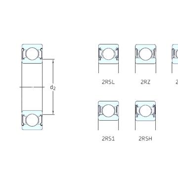 6007-2RZ SKF Deep Groove Ball Bearings