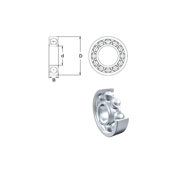 S696A-2RS ZEN Deep Groove Ball Bearings