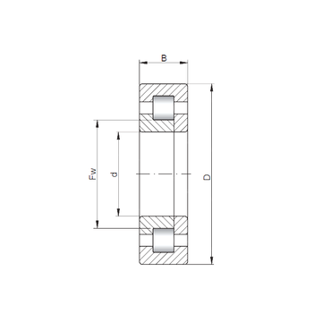 NUP2219 ISO Cylindrical Roller Bearings