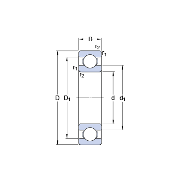 16052 SKF Deep Groove Ball Bearings #1 small image