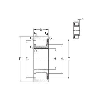 NCF2938-V NKE Cylindrical Roller Bearings #1 small image