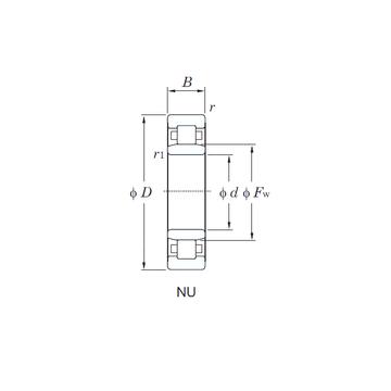 NU3216 KOYO Cylindrical Roller Bearings #1 image