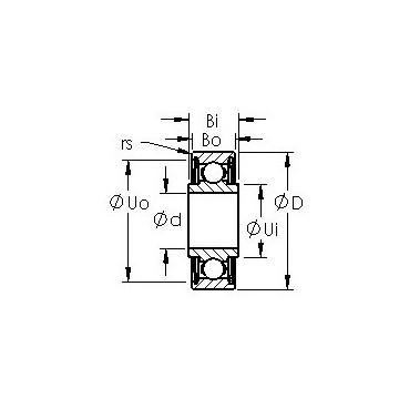SRW156ZZ AST Deep Groove Ball Bearings #1 image